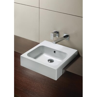 "WS Bath Collections GSI 18.9"" x 18.9"" Tracia C2 48 Bathroom Sink in White"