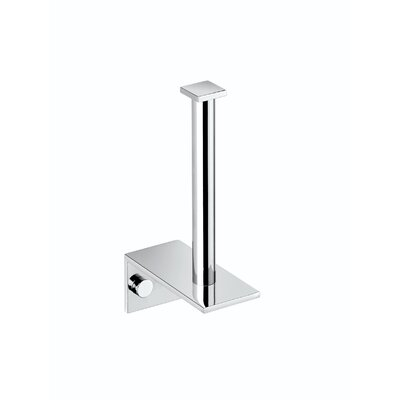 "WS Bath Collections Metric 6.7"" x 3.5"" Spare Paper Holder in Polished Chrome"