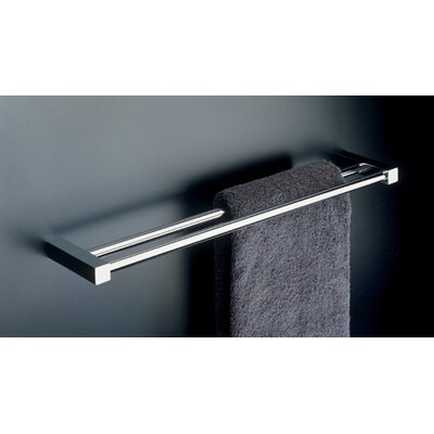 "WS Bath Collections Metric 23.6"" Double Towel Bar in Polished Chrome"