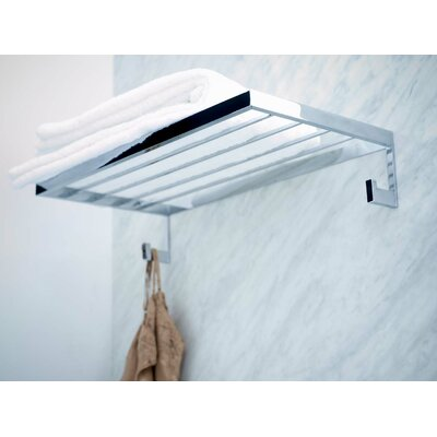 "WS Bath Collections Urban 23.6"" Towel Rack in Polished Chrome"
