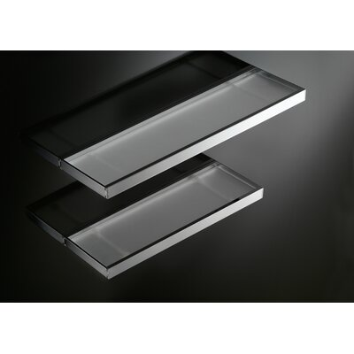 "WS Bath Collections Skuara 15.7"" Shelf with Safety Frosted Glass in Polished Chrome"