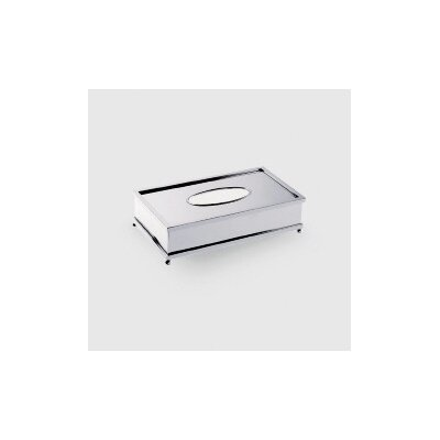 "WS Bath Collections Complements 10.2"" x 5.5"" Salomonic Tissue Box in Polished Chrome"