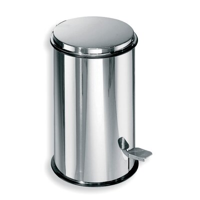 "WS Bath Collections Complements 8.7"" x 8.7"" Waste Basket in Stainless Steel"