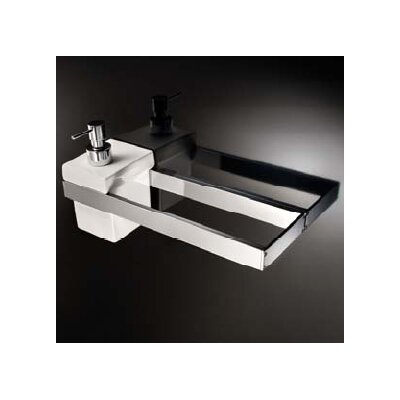 "WS Bath Collections Skuara 23.6"" Toilet Rail/Bracket in Polished Chrome"