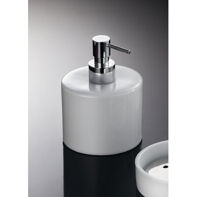 "WS Bath Collections Complements 3.9"" W x 3.9"" Saon Soap Dispenser in Polished Chrome"