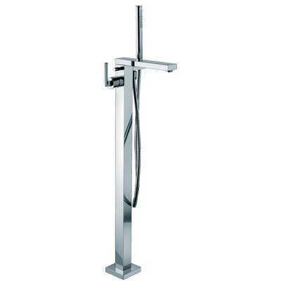 WS Bath Collections Myamyx Free Standing Floor Mount Single Handle Volume Control Shower Panel