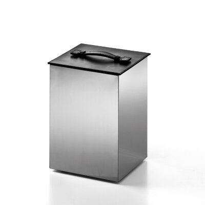 "WS Bath Collections Complements 8.9"" x 8.9"" Secioni Waste Basket with Lid"