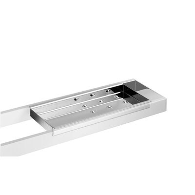 WS Bath Collections Skuara Sponge Holder in Stainless Steel