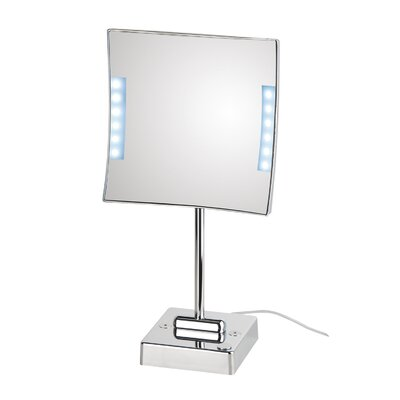 WS Bath Collections Quadrololed Free Standing Magnifying Cosmetic Mirror with Lighting