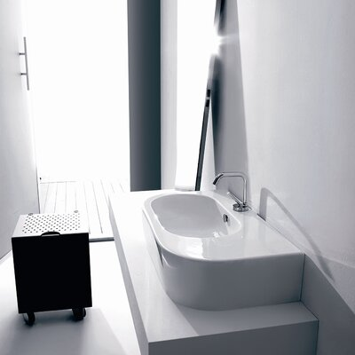 WS Bath Collections Kerasan Flo Wall Mounted / Vessel Bathroom Sink