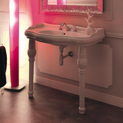 "WS Bath Collections Kerasan Retro Single Console 39.4"" Bathroom Vanity"