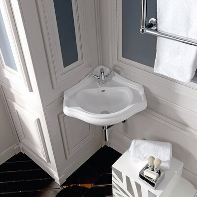 Kerasan Retro Wall Mounted Bathroom Corner Sink - Retro 1032.01 / Retro 1032.03