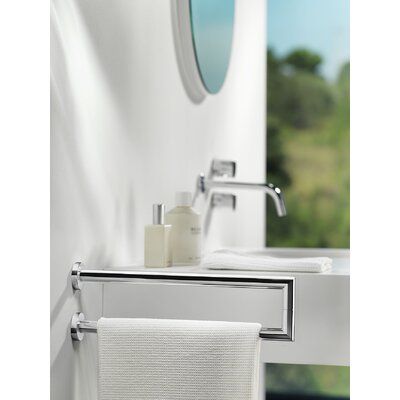 "WS Bath Collections Kubic Cool Double Lateral 14.2"" Towel Bar"