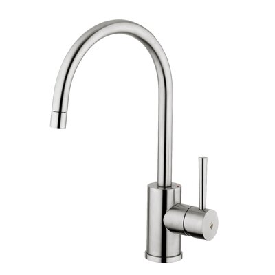 WS Bath Collections Fonte Steel One Handle Single Hole Kitchen Faucet