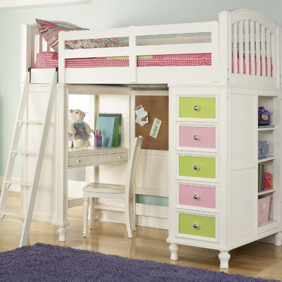 Build-A-Bear by Pulaski Pawsitively Yours Twin Loft Bed with Desk and Storage