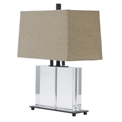 House of Troy Marquis Rectangular Crystal Table Lamp