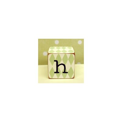 "New Arrivals ""h"" Letter Block in Green"