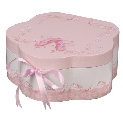 Mele & Co. Ella Girl's Wooden Musical Ballerina Jewelry Box with Fashion Paper Overlay