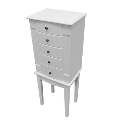 Mele & Co. Vanna Jewelry Armoire in White