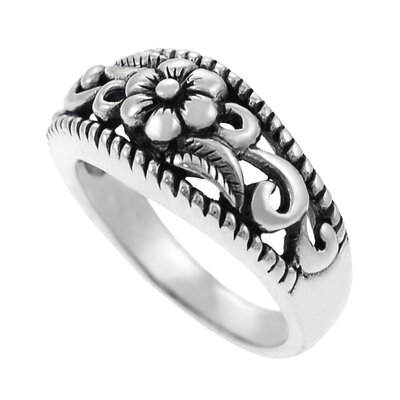 Skyline Silver Sterling Silver Filigree Flower Ring