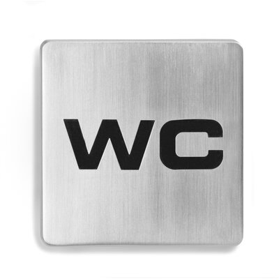 "Blomus Signo Door Plate ""WC"""