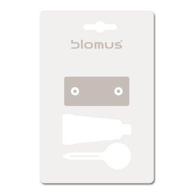 Blomus Sento Wall Mount Toilet Brush with Optional Wall Mounting Kit