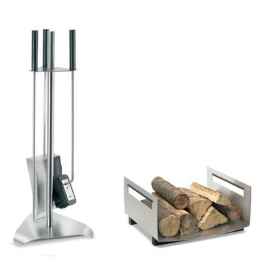 Blomus Chimo 3 Piece Stainless Steel Fireplace Tool Set