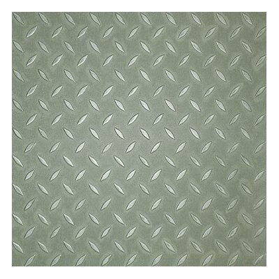 "Metroflor Metro Design Textured Metallic Tile 18"" Vinyl Tile in Green"