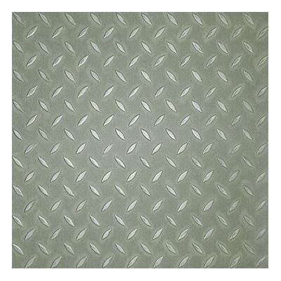 SAMPLE - Metro Design Textured Metallic Tile Vinyl Tile in Green
