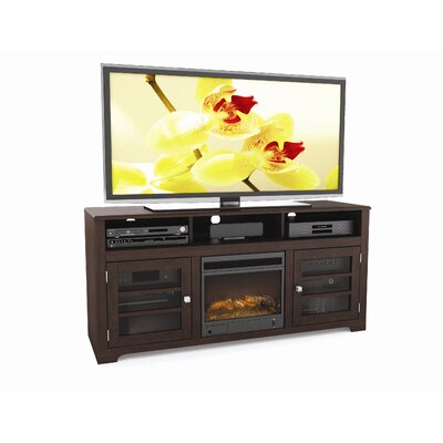 "dCOR design West Lake 68"" TV Stand with Electric Fireplace"