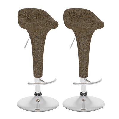 dCOR design Adjustable Bar Stool (Set of 2)