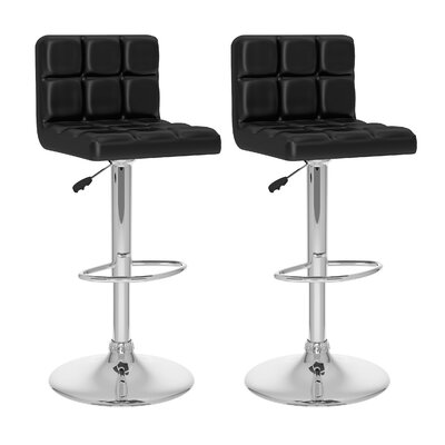 dCOR design CorLiving High Back Adjustable Barstool (Set of 2)