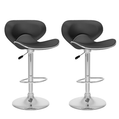 dCOR design CorLiving Curved Form Fitting Adjustable Barstool (Set of 2)