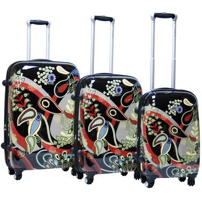 CalPak Woodstock Expandable Hardsided 3 Piece Spinner Luggage Set