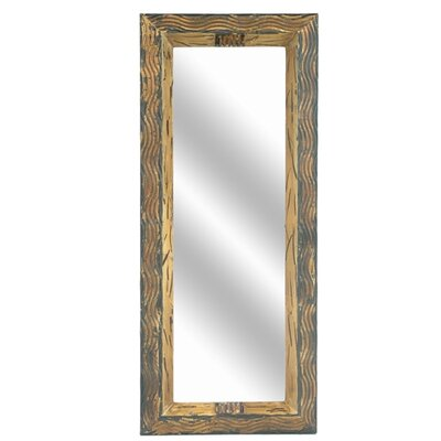 Wavy Metallic Rectangular Mirror