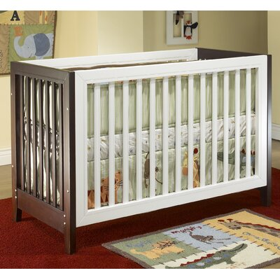 Sorelle City Lights Commuter Convertible Crib Set in Two Tone White / Esprsso