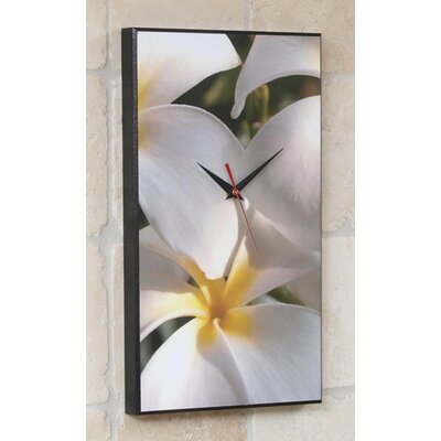Wilson Studios Plumeria Hawaiian Flower Wall Clock