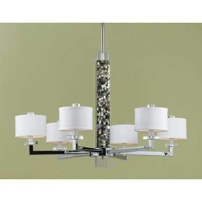 AF Lighting Sahara 6 Light Chandelier