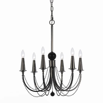 AF Lighting Shelby 6 Light Chandelier