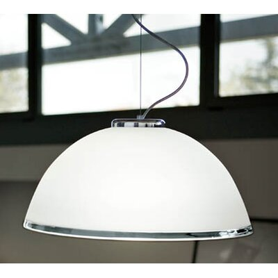 Murano Luce Candida Pendant in Chrome