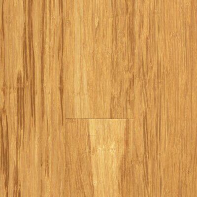 "US Floors Natural Bamboo Expressions 5-1/4"" Solid Locking Strand Woven Bamboo Flooring in Natural"