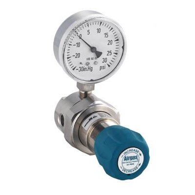 Airgas - 200 PSI Delivery Single Stage High-Purity Stainless Steel Pressure Line Regulator With 1250 PSI Maximum Rated Inlet Pressure And Threadless Seat Without CGA Fitting