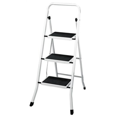 Polder 3 Step Stool w/ Mat Rail