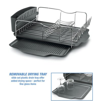 Polder Advantage Dish Rack without Mat in Gray