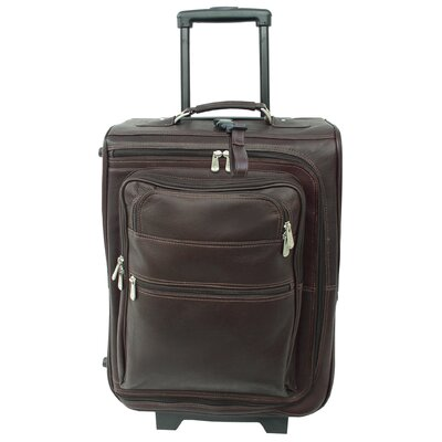 "Piel Leather Traveler 19"" Multi-Pocket Wheeler Suitcase"