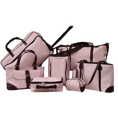 Piel Leather Pastel Collection Hanging Cosmetic Utility Kit