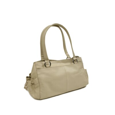 Piel Leather Ladies Shopper Bag in Ivory