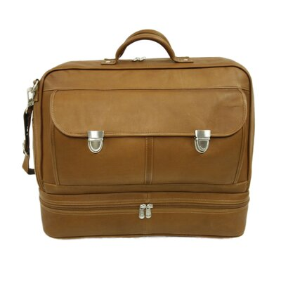 Piel Leather Traveler False Bottom Carry-On in Saddle
