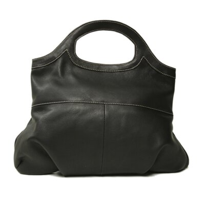 Piel Leather Pyramid Bag in Chocolate