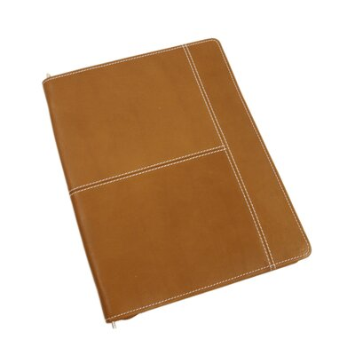 Entrepreneur Zip-Around Letter-Size Padfolio in Saddle